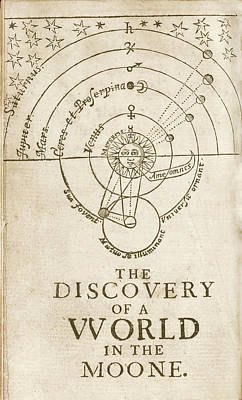 Discovery Of A World In The Moone (1638) Poster by Library Of Congress