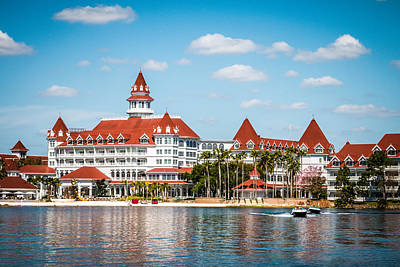 Disney's Grand Floridian Resort And Spa Poster by Sara Frank
