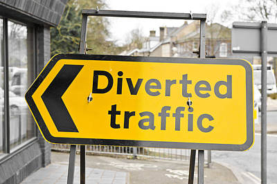 Diverted Traffic Poster by Tom Gowanlock