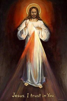 Divine Mercy II Poster by Sheila Diemert