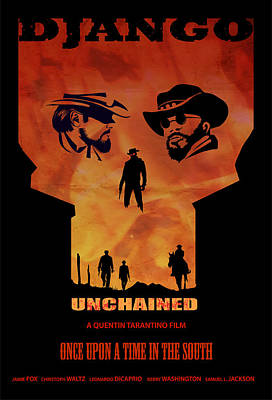 Django Unchained Alternative Poster Poster by Sassan Filsoof