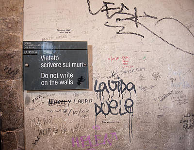 Do Not Write On The Walls Poster by Melany Sarafis