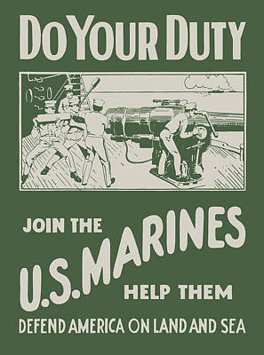 Do Your Duty - Join The U S Marines Poster by God and Country Prints