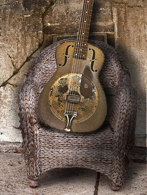 Dobro Guitar Poster by Larry Butterworth