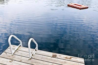 Dock On Calm Summer Lake Poster by Elena Elisseeva