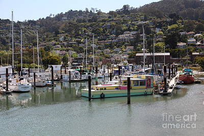 Docks At Sausalito California 5d22697 Poster by Wingsdomain Art and Photography