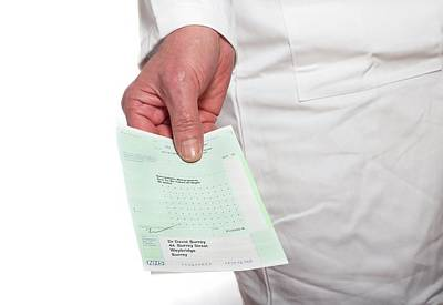 Doctor Holding A Prescription Poster by Victor De Schwanberg