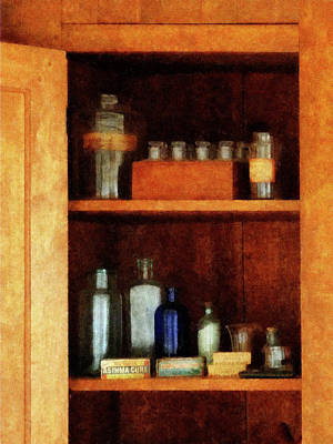 Doctor - Medicine Chest With Asthma Medication Poster by Susan Savad