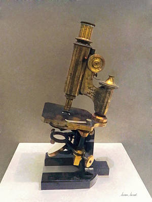 Doctor - Vintage Microscope Poster by Susan Savad