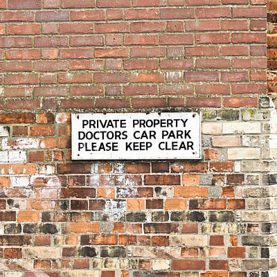 Doctors' Car Park Poster by Tom Gowanlock