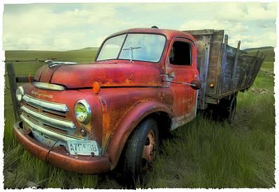Dodge Farm Truck  Poster by Theresa Tahara