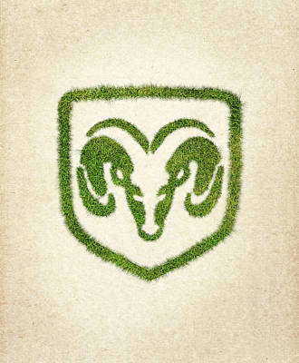 Dodge Grass Logo Poster by Aged Pixel