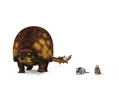 Doedicurus Prehistoric Mammal Poster by Walter Myers