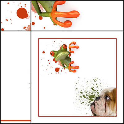 Dog And Frog - 01fr03 Poster by Variance Collections