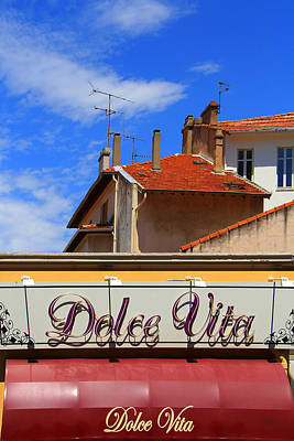 Dolce Vita Cafe In Saint-raphael France Poster by Ben and Raisa Gertsberg