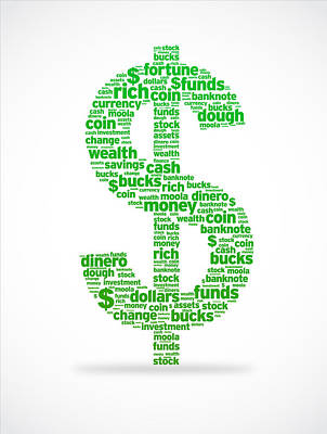 Dollar Sign Poster by Aged Pixel