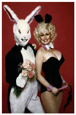 Dolly With Playboy Rabbit Poster by Brian Graybill
