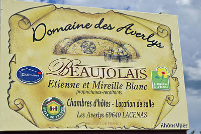 Domaine Des Averlys Poster by Allen Sheffield