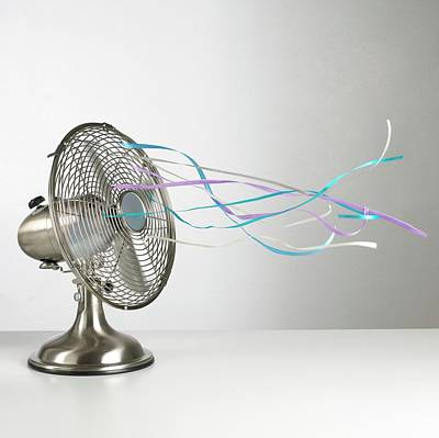 Domestic Fan Showing Air Movement Poster by Science Photo Library