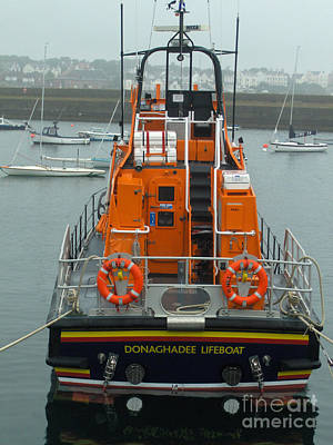 Donaghadee Rescue Lifeboat Poster by Brenda Brown