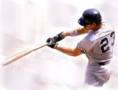 Donnie Ballgame Don Mattingly  Poster by Iconic Images Art Gallery David Pucciarelli