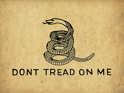 Don't Tread On Me Poster by God and Country Prints