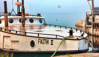 Door County Gills Rock Faith II Fishing Trawler Poster by Christopher Arndt