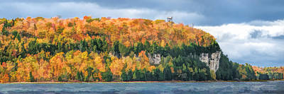Door County Peninsula State Park Bluff Panorama Poster by Christopher Arndt