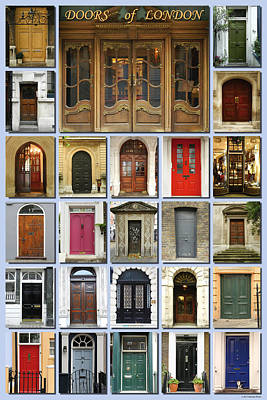 Doors Of London Poster by Heidi Hermes