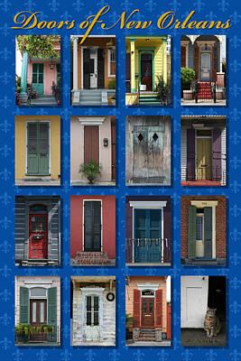 Doors Of New Orleans Poster by Heidi Hermes