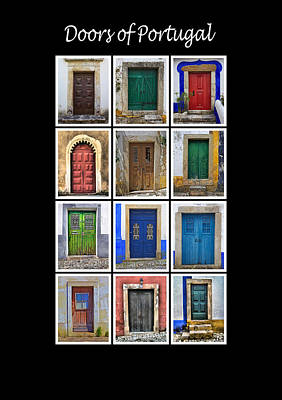Doors Of Portugal Poster by David Letts