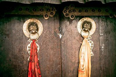 doors ZUTHRUL PHUG MONASTERY Milarepas Cave  Poster by Raimond Klavins