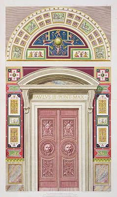Doorway To The Raphael Loggia Poster by G. & Camporesi, P. Savorelli