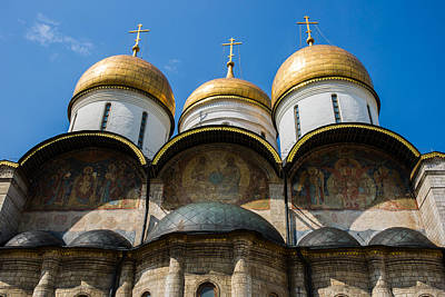 Dormition Cathedral Of Moscow Kremlin - Featured 3 Poster by Alexander Senin