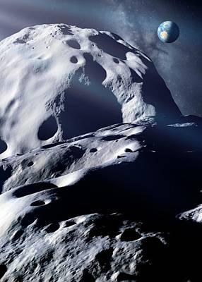 Double-asteroid Toutatis Poster by Detlev Van Ravenswaay