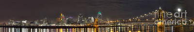 Downtown Cincinnati Panorama Poster by Twenty Two North Photography
