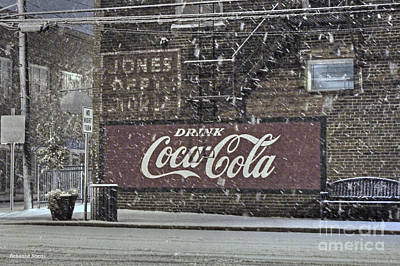 Downtown Covered In Snow Poster by Benanne Stiens
