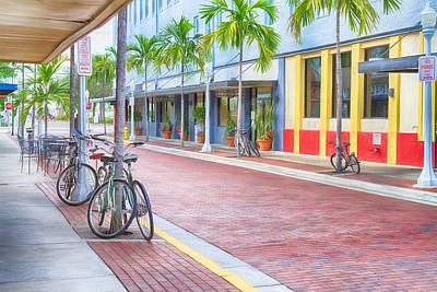 Downtown Fort Myers - Florida Poster by Kim Hojnacki