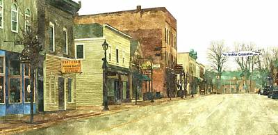 Downtown Newago Michigan Poster by Rosemarie E Seppala
