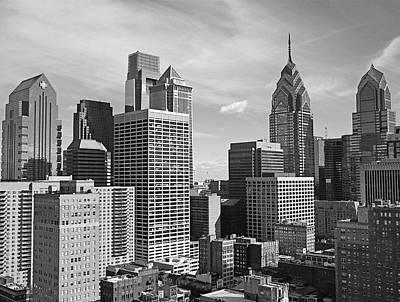 Downtown Philadelphia Poster by Rona Black