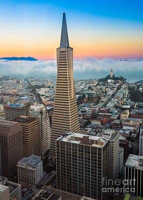 San Francisco Fog Poster by Inge Johnsson