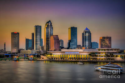 Downtown Tampa Poster by Marvin Spates