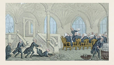 Dr. Syntax Entertained At College Poster by Rowlandson, Thomas (1756-1827), English