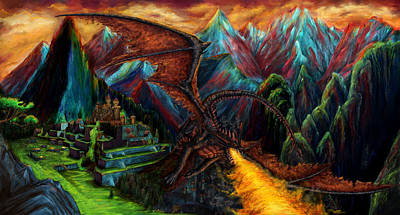 Dragon Poster by Anna R