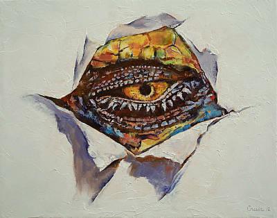 Dragon Eye Poster by Michael Creese