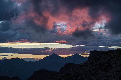 Dramatic Sky Over Mount Evans Poster by Bob Smith