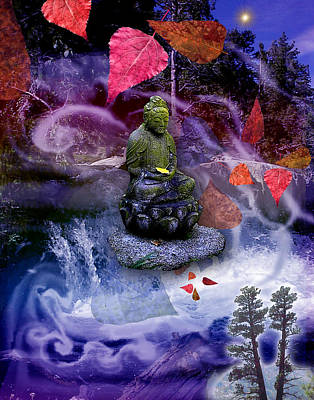 Dream Buddha Poster by Alixandra Mullins