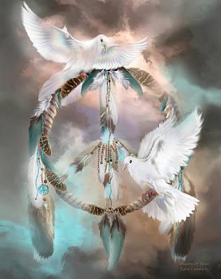 Dreams Of Peace Poster by Carol Cavalaris