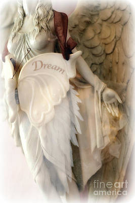 Dreamy Angel Art Photography - Ethereal Spiritual Dream Angel Wings - Inspirational Angel Art Poster by Kathy Fornal