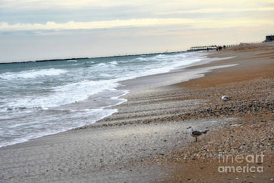 Dreamy Ocean Beach North Carolina Coastal Beach  Poster by Kathy Fornal